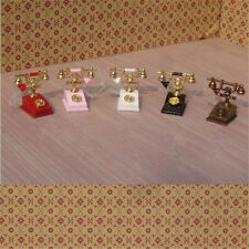 1:12 Scale Dollhouse Miniature Retro Style Vintage Phone Vintage Telephone Decor