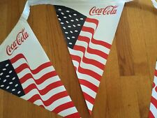"Coca-Cola American Flag Pennant Banner - 12""x18""x 35' Long - NEW!"