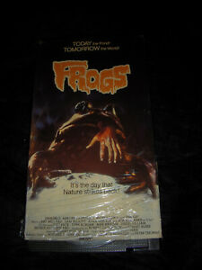 FROGS (VHS) 1972 Horror, Sci-Fi  SAM ELLIOTT **OG SHRINK INTACT  Great Condition