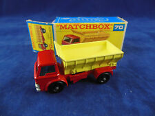 Matchbox Regular Wheels No 70 Grit Speader Red Cab grey slide Superb