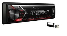 Pioneer MVH-S300BT USB MP3 RDS AUX Set montaje para 1/2 DIN TOYOTA AVENSIS T25