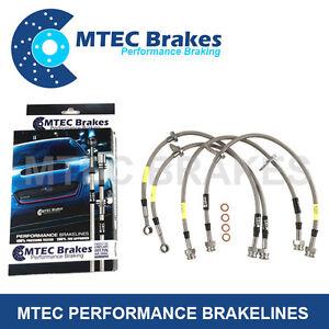 Mazda RX-8 2003 - 2006 Zinc Plated MTEC Performance Steel Braided Brake Hoses