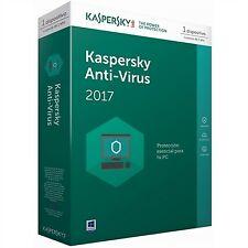 Softw Kaspersky 2017 antivirus 1U