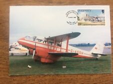 Guernsey Postcard 50th Anniversary Of The Airport with Franked Stamp DH89 RAPIDE