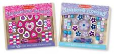 Kids Craft Set 2 Jewelry Making Kit Wooden Flower Heart Beads Necklace Gift NEW