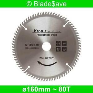 Festool Circular Plunge Saw Blade Fine Cut TCT 160mm x 16/20mm x 80T by KROP