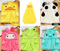 Multi-Color Cartoon Soft Coral Velvet Cleaning Wash Cloth Dish Duster Hand Towel