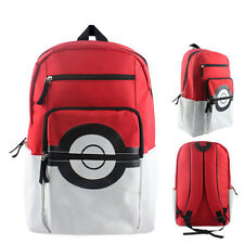Pokemon GO Pokeball Backpack School Canvas Boys Washable Waterproof USA SELLER