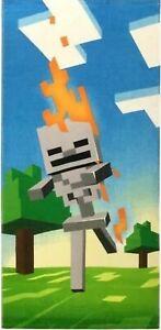 NEW MOJANG Minecraft Skeleton Beach Towel