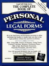 The Complete Book of Personal Legal Forms (3.5 IBM with book): Second Edition