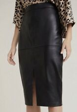 50 Years Of Style Witchery Leather Pencil Skirt Size 8