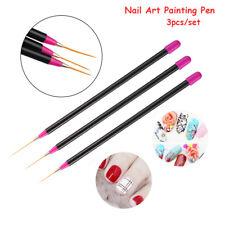 3pcs Nail Art Pen Painting Brushes Nail Art Drawing Line Gradient Manicure Tools