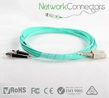 SC-ST OM4 Duplex Fibre Optic Cable (0.5M)
