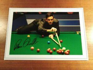 RONNIE O'SULLIVAN World SNOOKER Signed Autograph PHOTO Fan Gift Signature Print