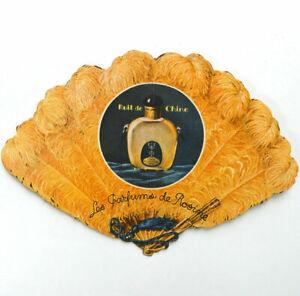Carte parfumée Les parfums de Rosine Nuit Chine c1925 Eventail Paul Poiret