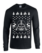 Darth Vader Ugly Christmas Sweater Star Wars LONG SLEEVE Men's Tee Shirt B119