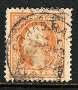 SCOTT 336 1908 6 CENT WASHINGTON REGULAR ISSUE USED VF!