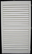 Plantation Shutters Cream Timber Left Opening 64mm Clearview Shutter 1323mm H