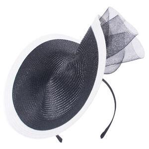 Womens Royal Style Fascinator Wedding Church Racing Hat Headband Headpiece T450