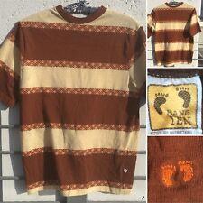 Vintage Hang Ten T-Shirt Striped & Argyle Stripe 70s 80s M RN 19221 50/50 M