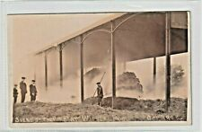 More details for shropshire. scene of the fire at withy pool, telford. october 1908.