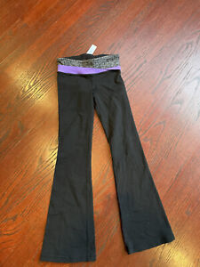 Ivivva 6Y Black And Purple Boot Cut Leggings Yoga