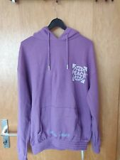 Off-White Peace Hoodie Purple Lila Size S