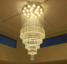 Crystal LED Chandelier Rain Drop Ceiling Light Lobby Pendant Lamp Fixtures