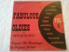 VARIOUS: Fabulous Oldies, Vol. 4 LP Fireflys, 5 Satins, Wilson Pickett, Marcels