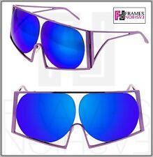 LINDA FARROW TODD LYNN Angular Metal TL4 Lilac Purple Mirrored Revo Sunglasses