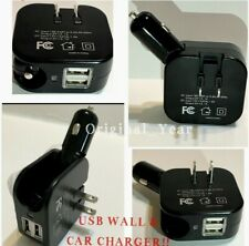 1 PCs Portable Dual USB 5V 2.1A Car And Wall Charger Combo 2 in 1