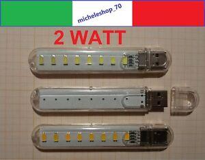 luce led 8 led USB con custodia rigida per portatile notebook PC lettura