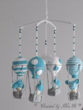 Balloon Mobile with Rattle and Bed Music Holder Handmade
