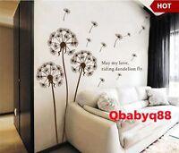 Flying Dandelion-Wall Decals Removable stickers decor DIY art kids Nursery room