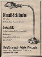 PFORZHEIM, Werbung / Anzeige 1940, Metallschlauch-Fabrik Metall-Schläuche