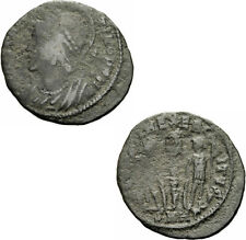 Constantin i Follis Heraclea 336/7 Constantinopoli gloria exercitvs Ric 157