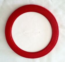 Red Leather Magnetic Coaster or Ornament for Needlepoint Canvas Ornament LEE