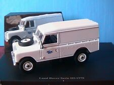 LAND ROVER SERIE III WHITE TOLE 1978 POSTE 1/43 4X4 NEW