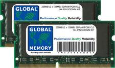 256MB (2 x 128MB) PC66 66MHz 144-PIN SDRAM SODIMM MEMORY RAM KIT FOR LAPTOPS