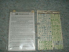 Microscale decals 1/72 72-36  Luftwaffe id lett numb 72m blue green D18