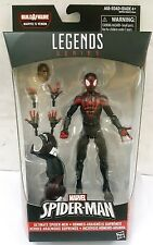 MARVEL LEGENDS SERIES ULTIMATE SPIDER-MAN BUILD VENOM MILES MORALES SPIDERMAN