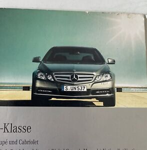 MERCEDES BENZ E- CLASS COUPE / CABRIOLET DIGITAL OWNERS MANUAL (W207)