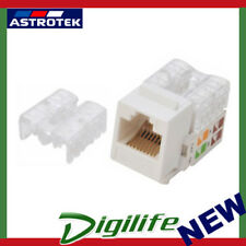 Astrotek CAT6 UTP Outlets Keystone Jack for Socket kit 10pcs Poly Bag White LS