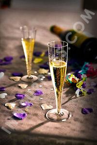 10 x 100ml Disposable Plastic Champagne Flutes Glasses Large [5055202124035]