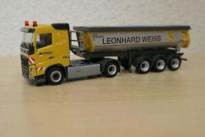 """Herpa 1:87 - Volvo FH Thermomulden-Sattelzug """"Leonhard Weiss"""" - 311045"""