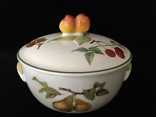 "Royal Worcester Evesham Vale Fine English China Casserole, 6 1/2"" x 5 1/2"" High"