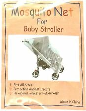 Lot Pack 2 Mosquito Insect Protection Net Mesh Slips Over Stroller, Bassinet