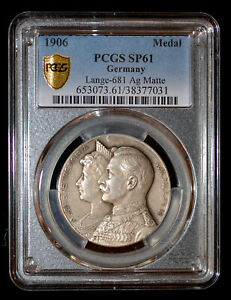 PCGS SP61 1906 Germany Wilhelm Silver Wedding silver medal Lange-681