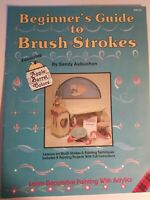 Beginners Guide to Brush Strokes by Sandy Aubuchon How to Paint Craft Book