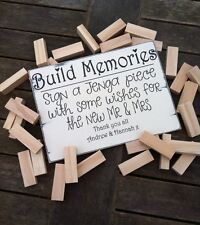 Alternative Guest Book Wedding Sign Build Memories Jenga Sign Personalised
